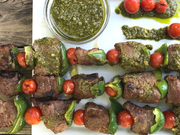 Pesto Steak Kabobs FEATURE