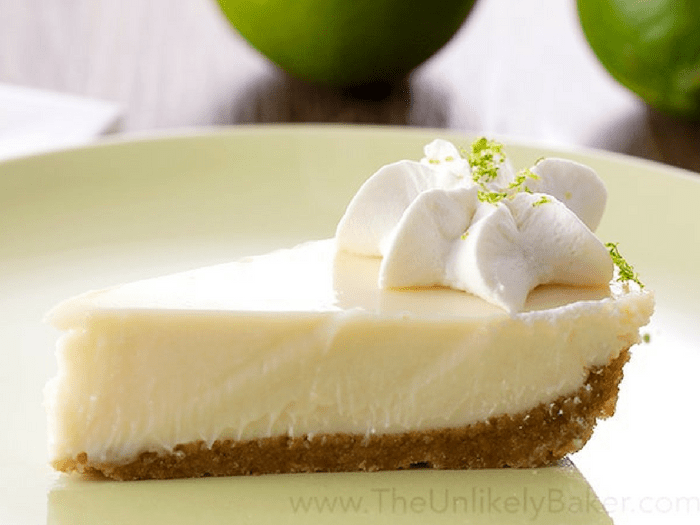 Eggless Key Lime Pie by The Unlikely Baker