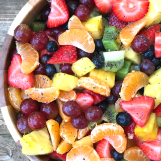 Fruit Salad with Lemon Poppy Seed Dressing