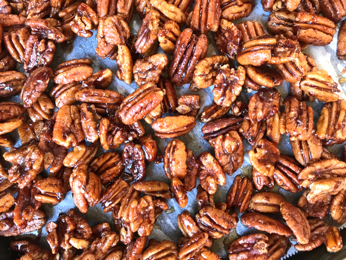 Sticky Candied Pecans by The Whole Cook FEATURE 1