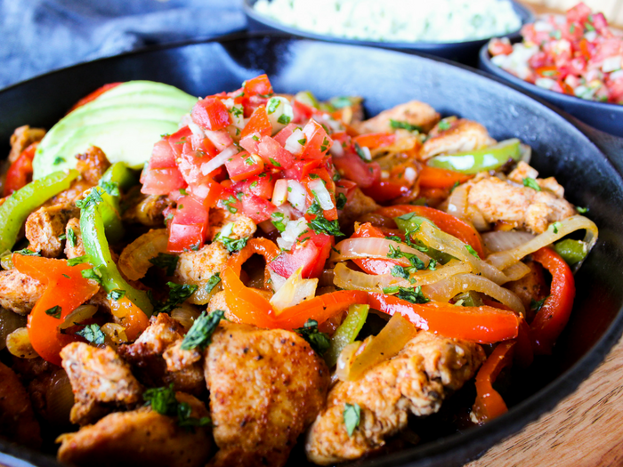Skillet Chicken Fajitas by The Whole Cook horizontal(1)
