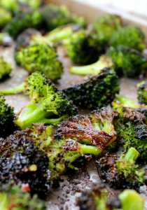 Spicy Roasted Broccoli by The Whole Cook on pan
