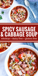 Spicy Sausage & Cabbage Soup by The Whole Cook