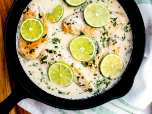 Coconut Lime Chicken by The Whole Cook horizontal