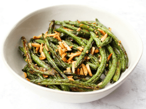 Green Beans with Toasted Almonds by The Whole Cook horizontal