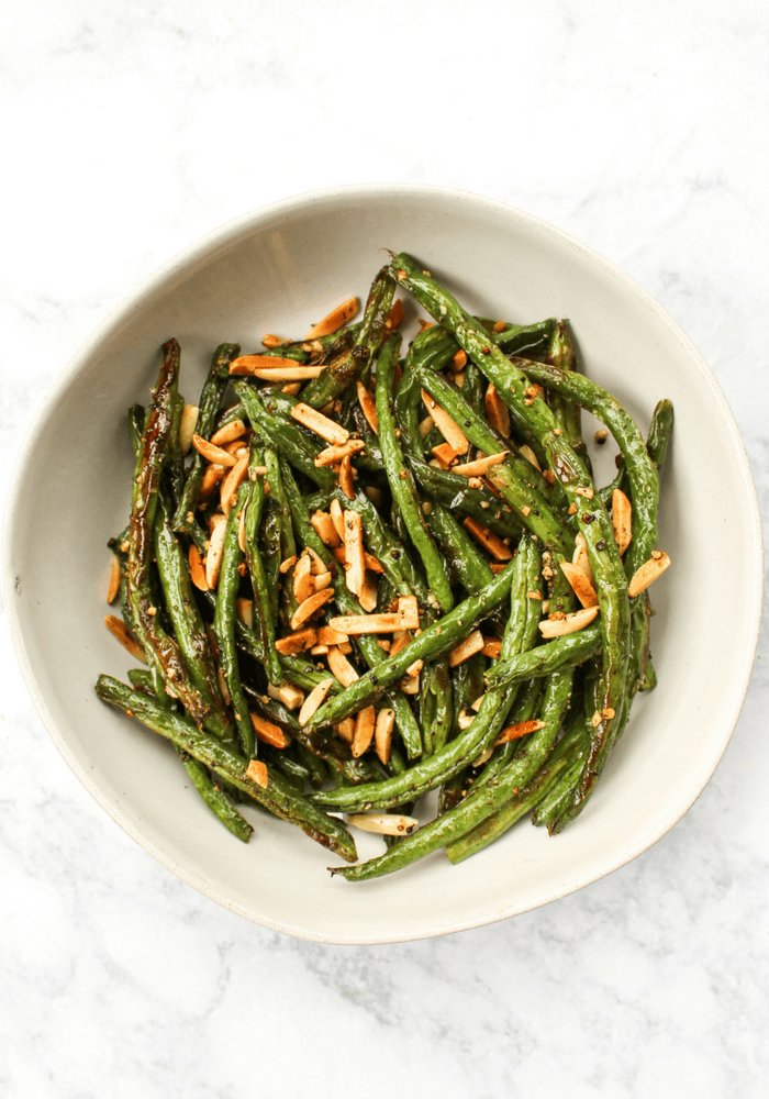 Green Beans with Toasted Almonds by The Whole Cook vertical