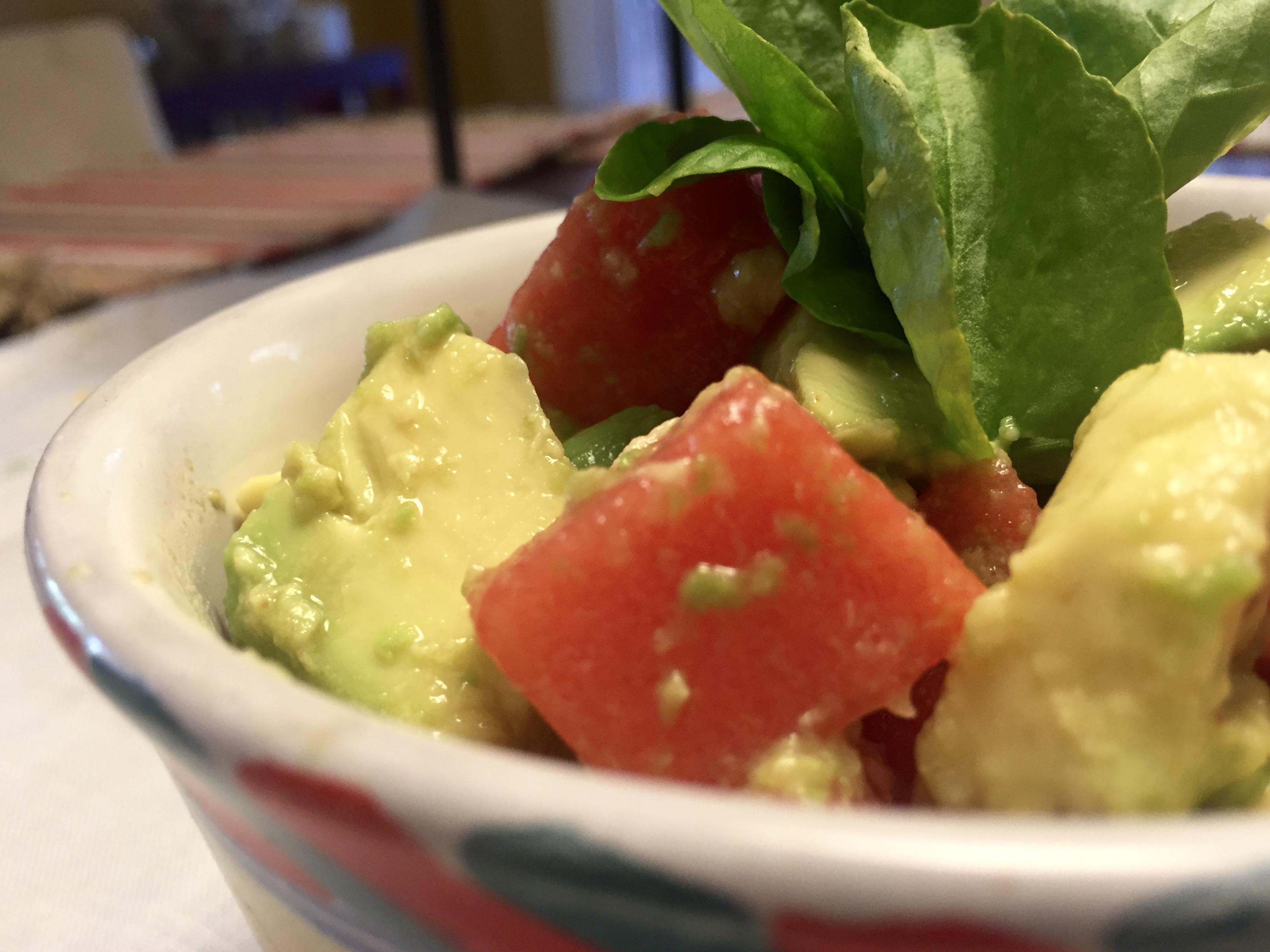 Watermelon & Avocado Salad