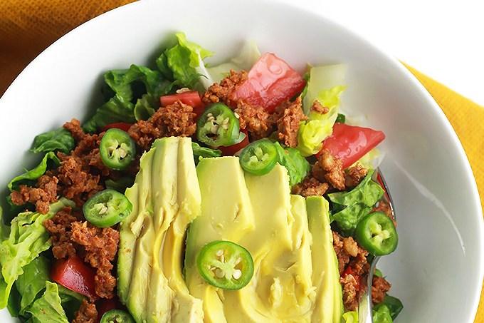 WIAW-Veggie-Burger-Taco-Salad.3
