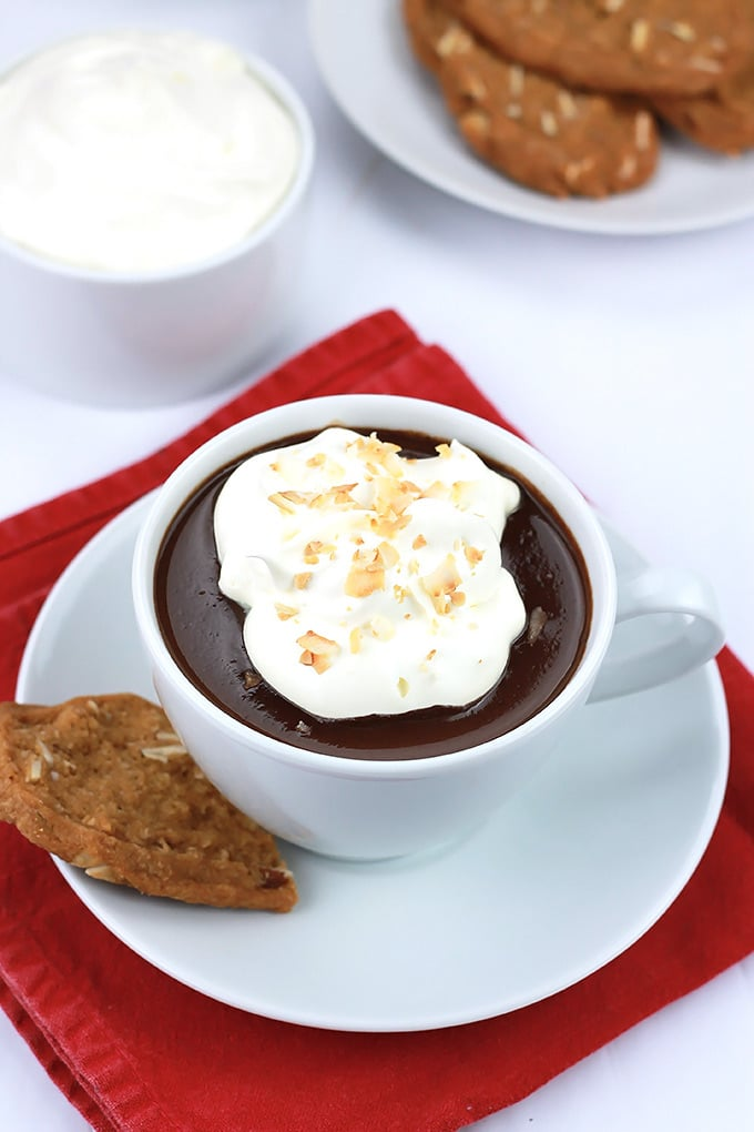 ... Hot Chocolate topped with creamy coconut cream and toasted coconut