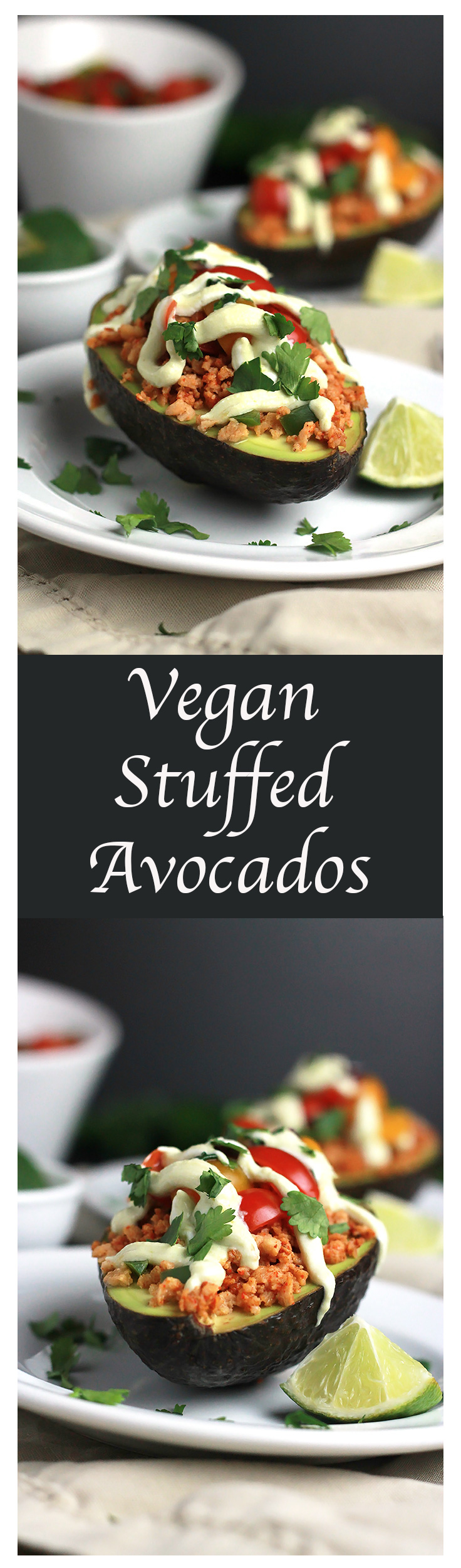 Skip the shell and just use the Avocado to hold all of the taco goodness That's what I did with these Vegan Stuffed Avocados, and let me tell you, they are so stinking delicious!