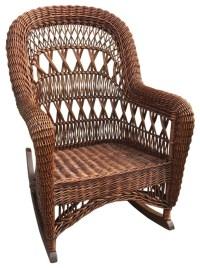 Antique Wicker Rocking Chair   Antique Furniture