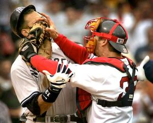 arod varitek yankees red sox brawl Remote Controlling: The Man's TV Guide to Outsmart Women Featuring the NHL Playoffs, NBA Playoffs, Yankees vs. Red Sox and More