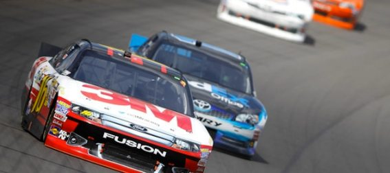 greg biffle leads a pack of racers at michigan international speedway NASCAR Power Rankings: Jimmie Johnson Holds Lead