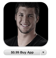 tebow app image itunes Tim Tebow: Not Surprisingly, Theres An App for That, Too