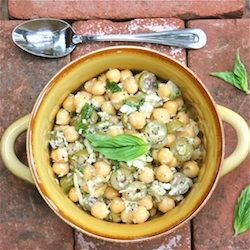 recipe, Chickpeas, Garlic and Olives 250 The Wimpy Vegetarian