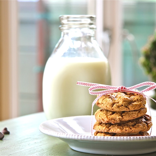 Salted Peanut Butter Cookies with Chocolate Nuggets (Gluten-Free) - The Wimpy Vegetarian