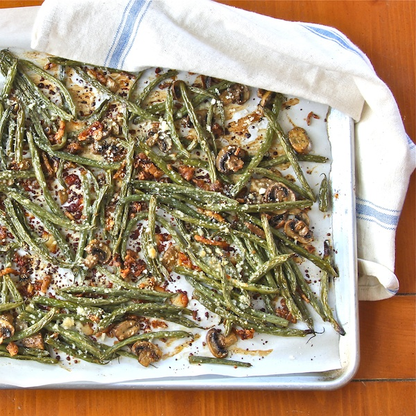 healthy vegan vegetarian redux of green bean casserole 1970's