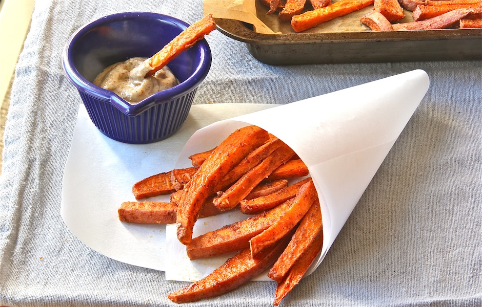 Spiced Sweet Potato &#039;Fries&#039; slider