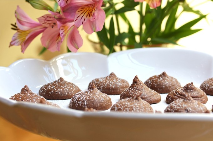chocolate kiss cookies with peanut butter