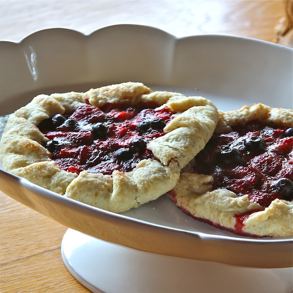 Strawberry cardamom galette, tart, easy summer entertaining