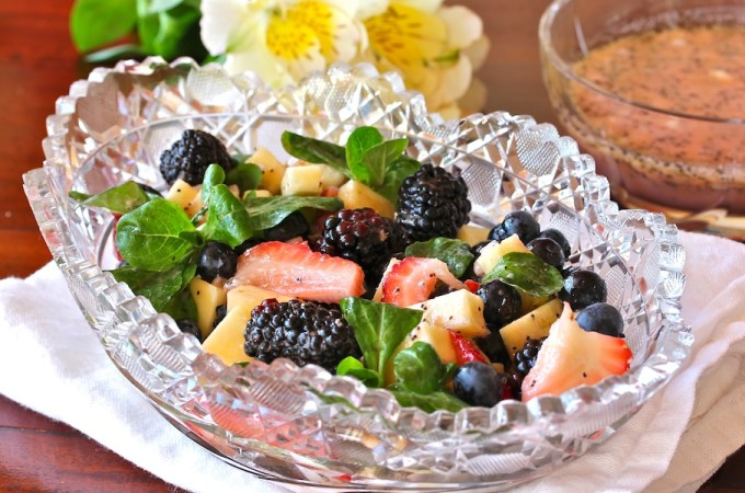 Berry-Pineapple Salad with Poppyseed Dressing