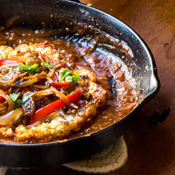 Cauliflower Skillet Steaks – Sicilian Style: #SundaySupper # ...