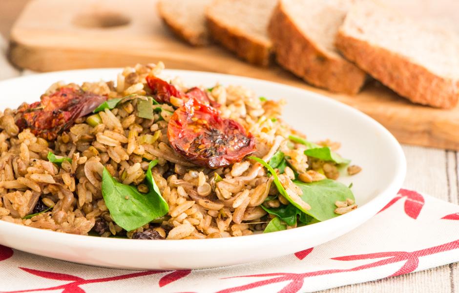 Mujadara lentils and rice