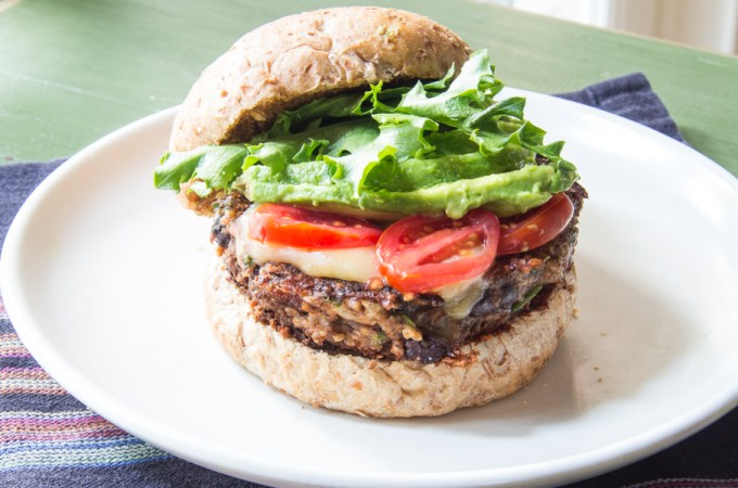 crispy black bean burger