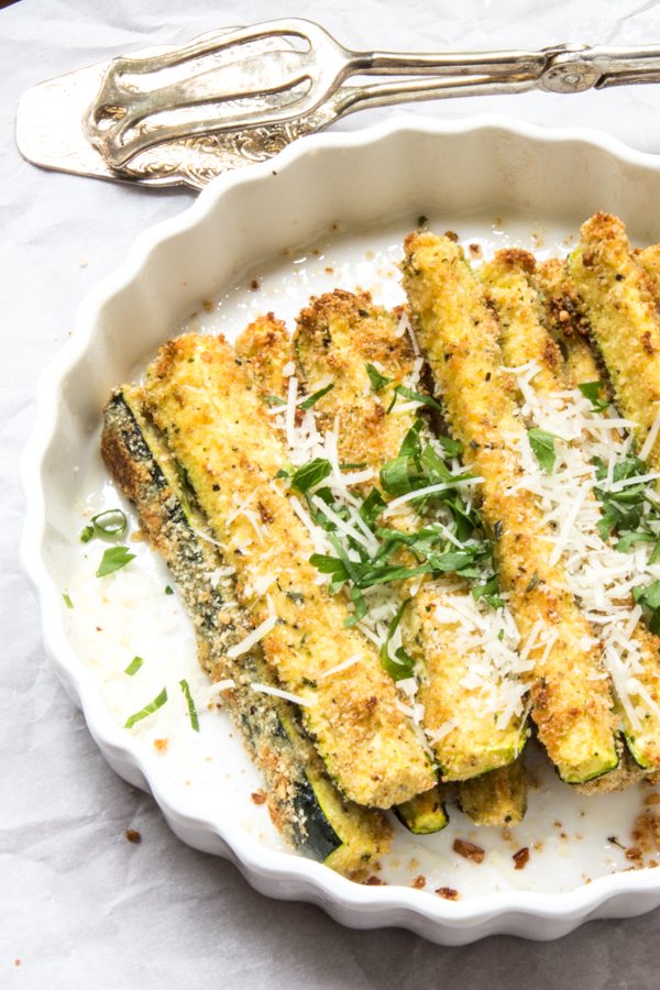 Parmesan zesty zucchini sticks