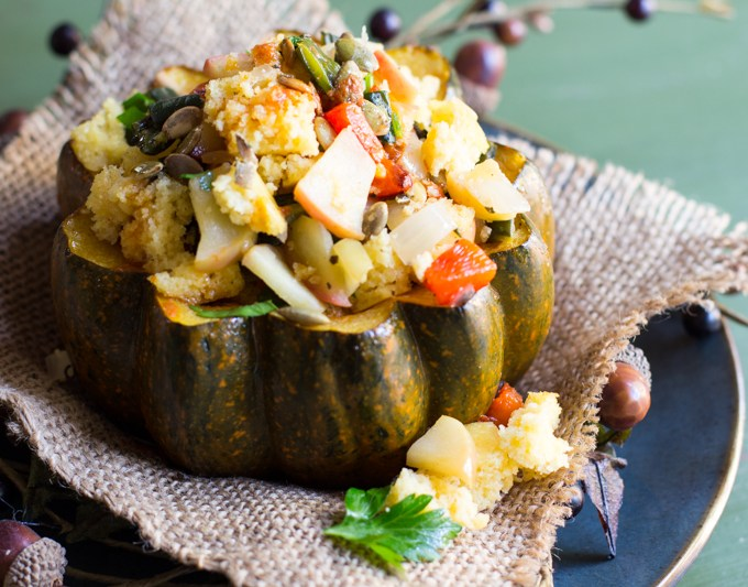 acorn squash stuffed featured