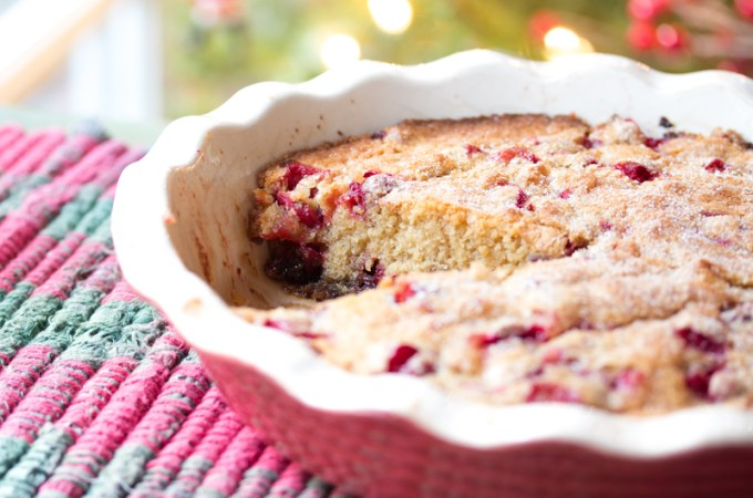 Cranberry Cake missing piece featured