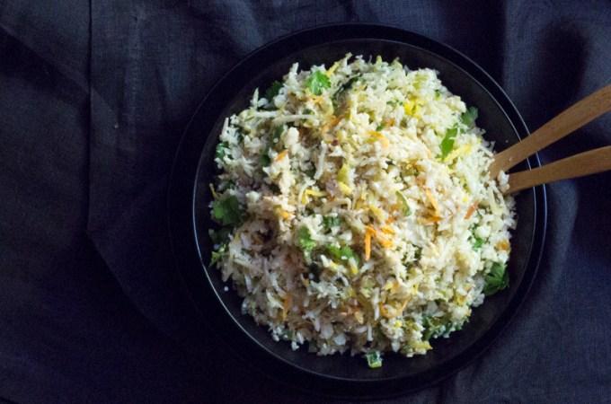 Cilantro-Lime Cauliflower Rice (with Coconut)