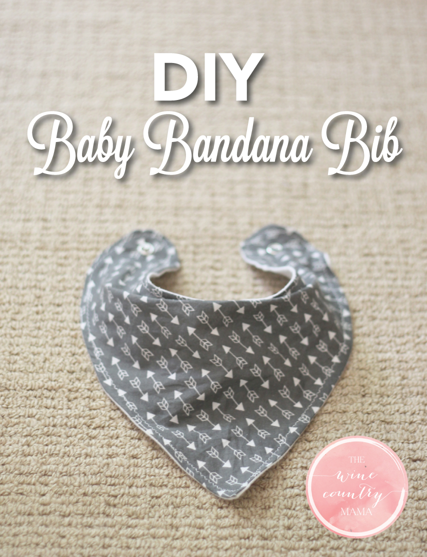 Diy baby bandana bib diy baby bandana bib the wine country mama thewinecountrymama baditri Images