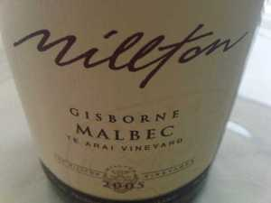 milton malbec