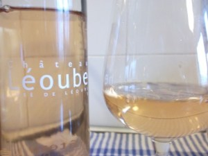 Chateau Leoube rose closeup