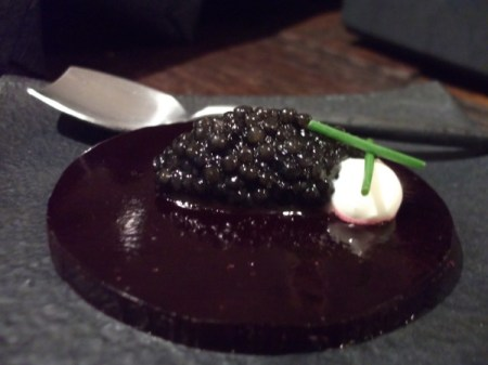 caviar and beetroot