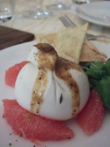 burrata &amp; grapefruit