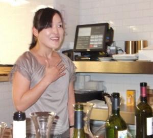 Honami Matsumoto, head sommelier