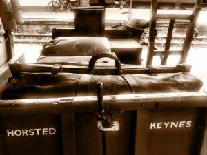 suitcases at the station