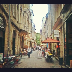 medieval street of Bordeaux
