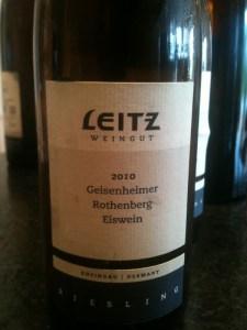 2010 Geisenheimer Rothenberg Riesling Eiswein