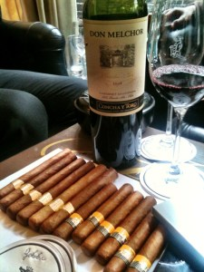 wine and cigars