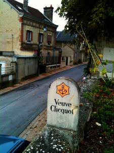 Veuve vineyard marker