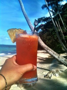 mai tai on the beach in koh samui