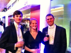 orchestra members at the interval