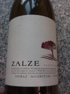 Zalze Shiraz Viognier 2011