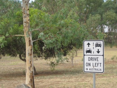 don't forget to drive on the left