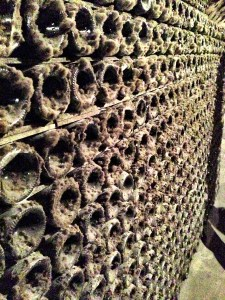 Billecart-Salmon bottles in the cellar, covered in a protective mold
