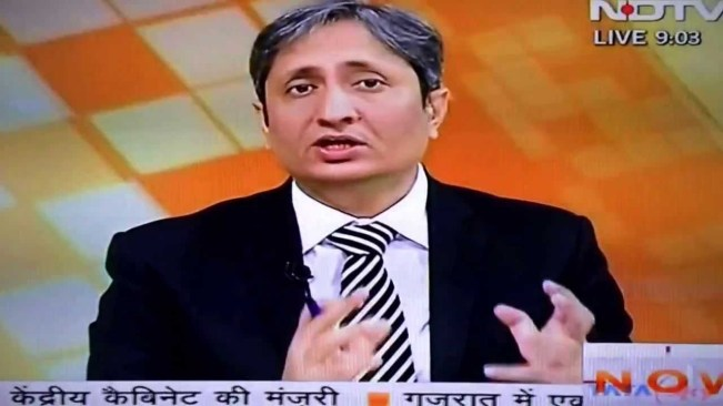 A screengrab from Ravish Kumar's show on NDTV.