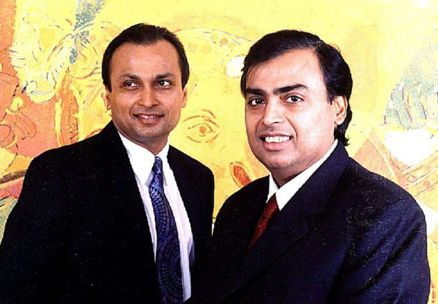Anil and Mukesh Ambani. Credit: PTI